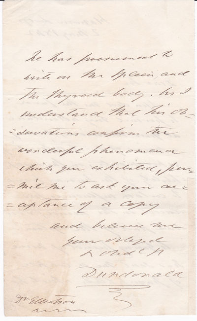 "Image for AUTOGRAPH LETTER concerning a demostration of Hypnotism SIGNED ""DUNDONALD"" by THOMAS COCHRANE, 10TH EARL OF DUNDONALD, addressed to DR. JOHN ELLIOTSON, who is recognized for his role in promoting Mesmerism and Phrenology and for the introduction of the stethoscope to the UK. TOGETHER with a RARE 1809 PORTRAIT OF LORD COCHRANE."