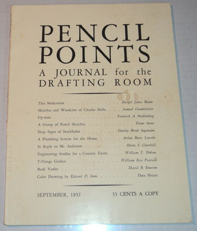 Image for PENCIL POINTS. An Illustrated Monthly Journal for the Drafting Room. [Volume XIII, Number 9, September, 1932].