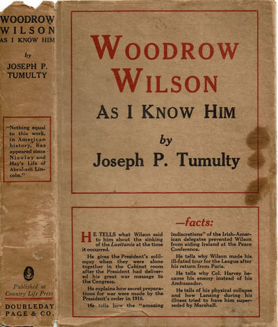 Image for WOODROW WILSON AS I KNOW HIM.