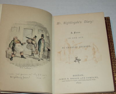 Image for MR. NIGHTINGALE'S DIARY: A Farce in One Act. By Charles Dickens.