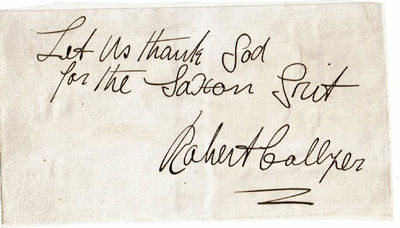Image for SLIP OF PAPER INSCRIBED WITH A QUOTATION AND SIGNED BY UNITARIAN PASTOR ROBERT COLLYER  WHO SUPPORTED THE ABOLITION OF SLAVERY AND WOMEN'S SUFFRAGE.