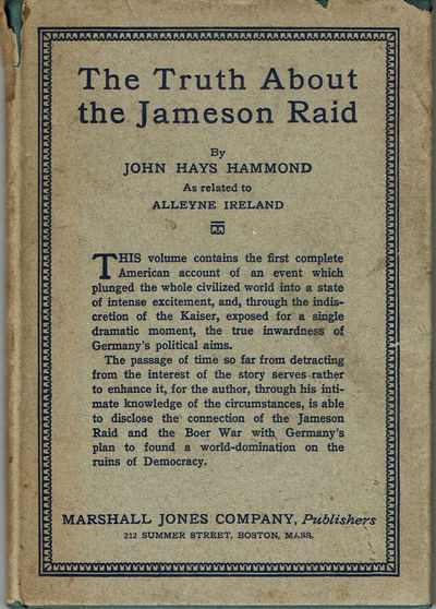 Image for THE TRUTH ABOUT THE JAMESON RAID. As Related to Alleyne Ireland.