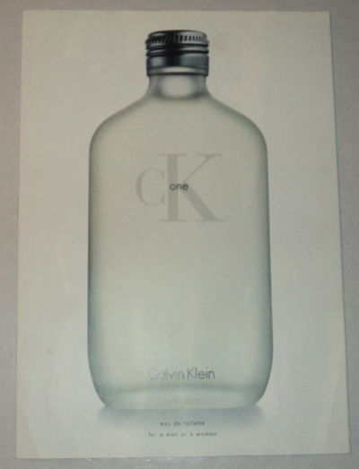 Image for AN EARLY RARE ORIGINAL FOUR-PANEL BROCHURE ILLUSTRATED with PHOTOGRAPHS by STEVEN MEISEL for Calvin Klein's CK One advertising campaign.