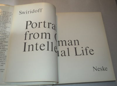 Image for PORTRAITS FROM GERMAN INTELLECTUAL LIFE. [A WONDERFUL ASSOCIATION COPY INSCRIBED BY THE GERMAN CONDUCTOR & VIOLINIST ALOIS SPRINGER TO LEONARD BERNSTEIN].