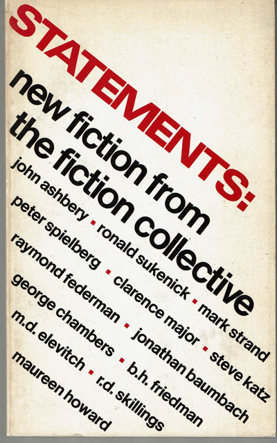 Image for STATEMENTS: New Fiction from the Fiction Collective.