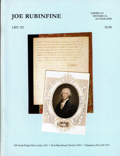 Image for AMERICAN HISTORICAL AUTOGRAPHS. List 152.