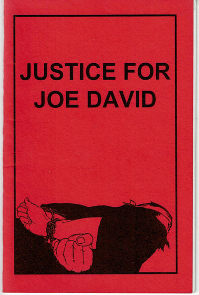 Image for JUSTICE FOR JOE DAVID.