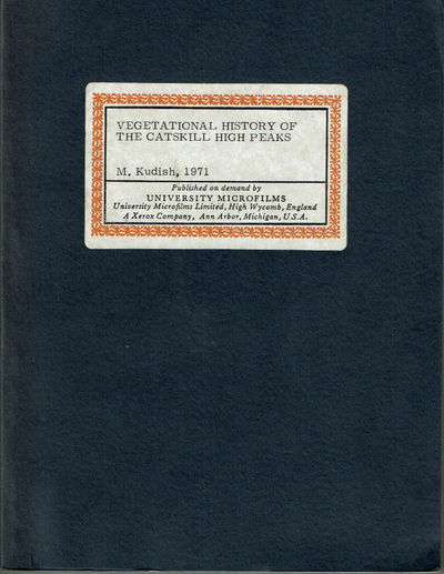 Image for VEGETATIONAL HISTORY OF THE CATSKILL HIGH PEAKS.