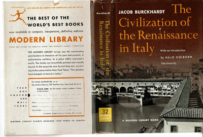 Image for THE CIVILIZATION OF THE RENAISSANCE IN  ITALY: An Essay by Jacob Burckhardt.
