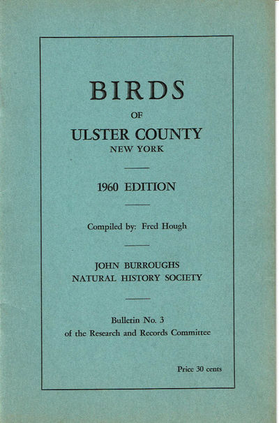 Image for BIRDS OF ULSTER COUNTY NEW YORK. 1960 Edition.