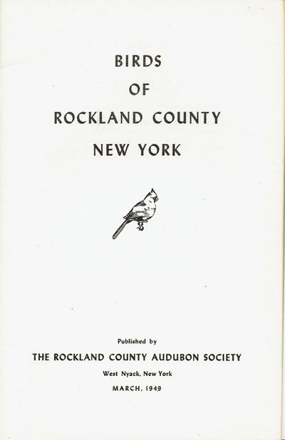 Image for BIRDS OF ROCKLAND COUNTY NEW YORK.
