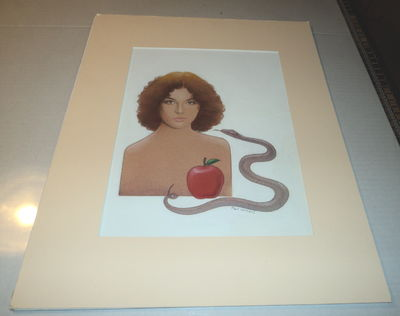 "Image for ORIGINAL SIGNED MIXED MEDIA PAINTING by PAUL WILLIAMS, for the cover of the Warner Books Paperback edition of MARGARET ATWOOD'S ""THE EDIBLE WOMAN""."