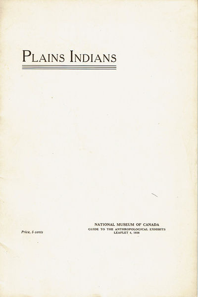 Image for PLAINS INDIANS. (Cover title).