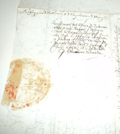 Image for ORIGINAL HOLOGRAPH DOCUMENT SIGNED by the Chief Steward of Bohemia CHRISTOPH POPEL OF LOBKOWICZ.