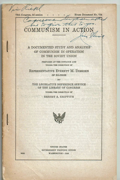 Image for COMMUNISM IN ACTION: A Documented Study and Analysis of Communism in Operation in the Soviet Union.... (Cover title).