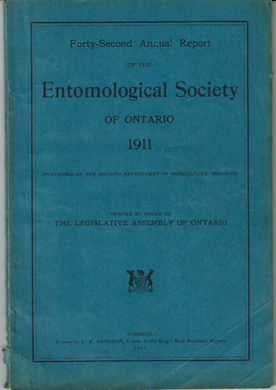 Image for FORTY-SECOND ANNUAL REPORT OF THE ENTOMOLOGICAL SOCIETY OF ONTARIO 1911.