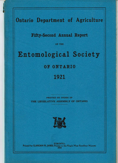 Image for FIFTY-SECOND ANNUAL REPORT OF THE ENTOMOLOGICAL SOCIETY OF ONTARIO 1921. Ontario Department of Agriculture.