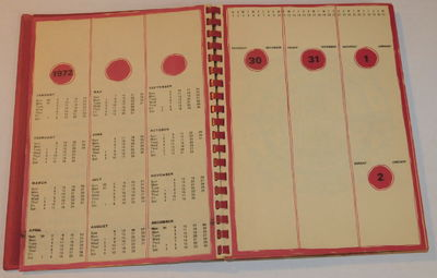"Image for ""INDIA 72"": AN ILLUSTRATED ASTROLOGICAL DESKTOP CALENDAR FOR THE YEAR 1972 DESIGNED & PRODUCED as a PAPER SAMPLE book by Bombay's CHIMANIAL PAPER COMPANY."