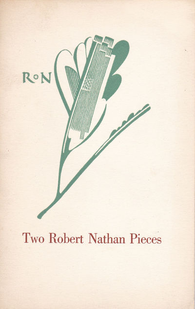 Image for TWO ROBERT NATHAN PIECES: A Talk with Robert Nathan / Advice to My Son. Typophile Monograph 28