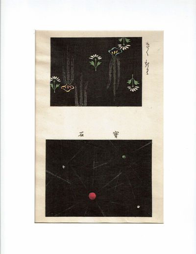 Image for AN ORIGINAL JAPANESE FABRIC DESIGN WOODBLOCK PRINT