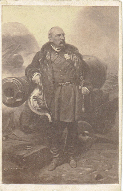 Image for A VINTAGE CARTE-DE-VISITE PORTRAIT, AFTER A PAINTING BY HORACE VERNET, OF THE FRENCH ARMY GENERAL WHO WAS MADE MARSHAL OF FRANCE FOLLOWING HIS SERVICE IN ALGERIA AND THE CRIMEAN WAR