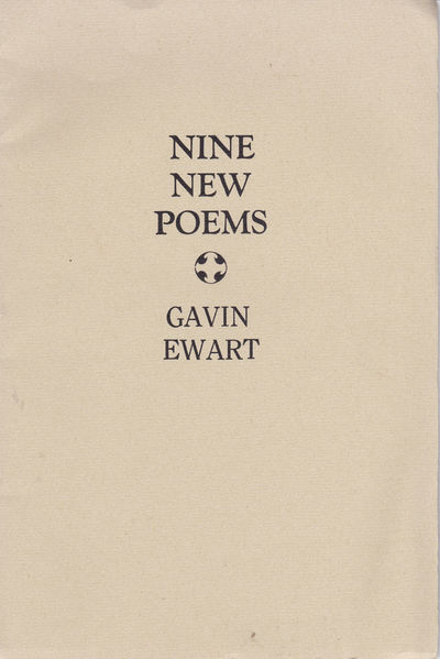 Image for NINE NEW POEMS.