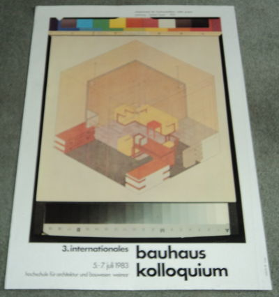 Image for 3. INTERNATIONALES BAUHAUS KOLLOQUIUM  5-7 JULI 1983. Original poster for the 3rd International Bauhaus Colloquium designed by Werner Nerlich and illustrated with Herbert Bayer's architectural drawing of Walter Gropius' office.