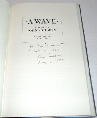 Image for A WAVE SIGNED by JOHN ASHBERY