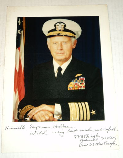 Image for COLOR PHOTOGRAPH INSCRIBED TO CONGRESSMAN SEYMOUR HALPERN AND SIGNED BY U.S. ADMIRAL WILLIAM BRINGLE.
