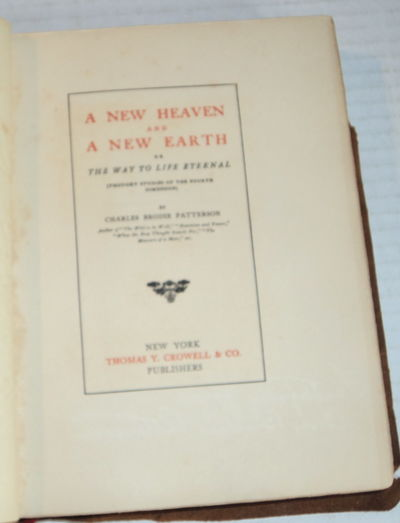Image for A NEW HEAVEN AND A NEW EARTH. (Thought Studies of the Fourth Dimension).