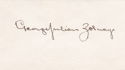 "Image for SIGNATURE OF HUNGARIAN AMERICAN ""SCULPTOR OF THE CONFEDERACY"" GEORGE JULIAN ZOLNAY."