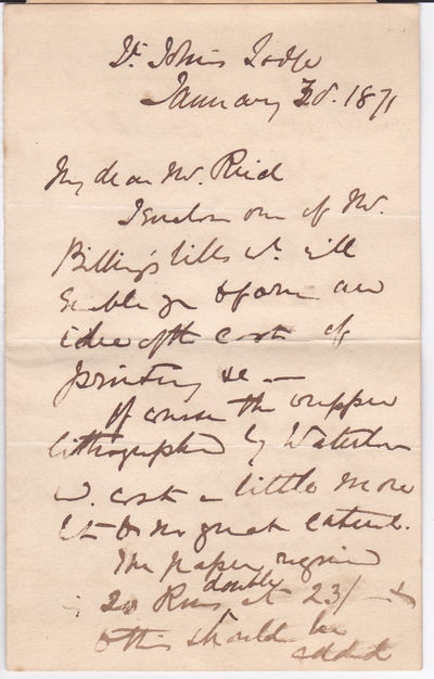 4 PAGE AUTOGRAPH LETTER SIGNED By The Popular Victorian Writer