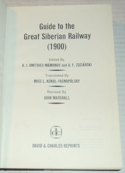 Image for GUIDE TO THE GREAT SIBERIAN RAILWAY (1900).