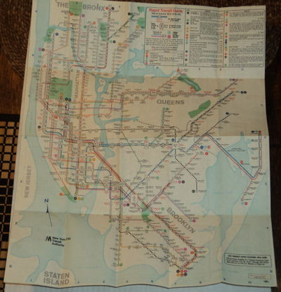 Image for RAPID TRANSIT GUIDE. [New York City transit map and station guide].